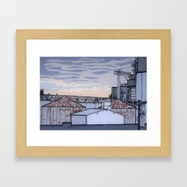 The Mill at Sunset Framed Art Print
