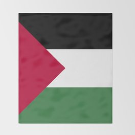 Palestine flag emblem Throw Blanket