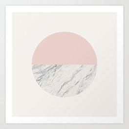 Moon Marble Art Print
