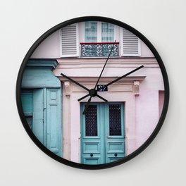 Paris Facades. Wall Clock