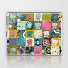 blooms patchwork Laptop & iPad Skin