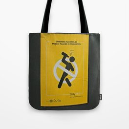 Drinking Prohibited on the Streets of Dublin, Ireland Tote Bag