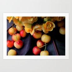 Cherry Gold Art Print