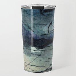 Labradorite Crystal Watercolor Travel Mug