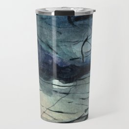 Labradorite Crystal Watercolor Travel Mug