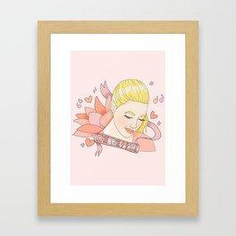 Oh Betty Framed Art Print