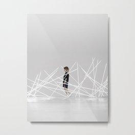 white neon Metal Print