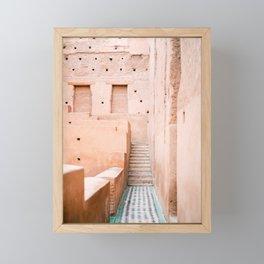 Colors of Marrakech Morocco - El badi palace photo print | Pastel travel photography art Framed Mini Art Print