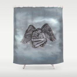 Eros , Amor - Angel and Woman in Love Shower Curtain