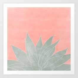 peachy agave Art Print