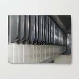 Piano Keys for Creating Abstract Worlds Metal Print