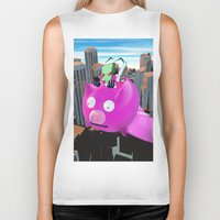 invader zim Biker Tanks featuring Invader Zim by inusualstuff