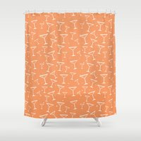 martini Shower Curtains featuring Martini Time by Sara Showalter