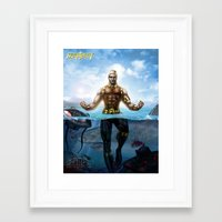 aquaman Framed Art Prints featuring Aquaman by Art By AntB
