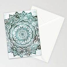 Emerald Jewel Mandala Stationery Cards
