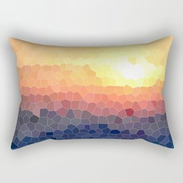 Stained-glass Effect Sunset Rectangular Pillow