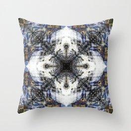 Flow Fractal Throw Pillow