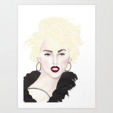 Fashion Illustration - Modern Marilyn  Art Print