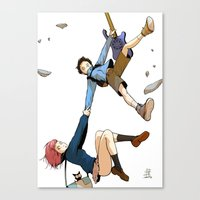 flcl Canvas Prints featuring Hand on tight! - FLCL by gabesapienza