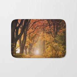 Autumn Fall Forest Path -  Nature Landscape Photography Bath Mat