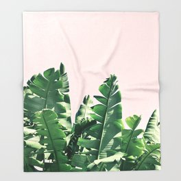 Jungle palms Throw Blanket