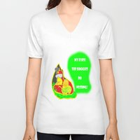 simpsons V-neck T-shirts featuring Simpsons Moments by LylaLovitt