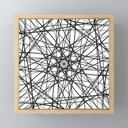 Geometric Black White Contemporary Art Framed Mini Art Print