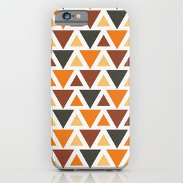 Colorful Triangle (Maroon, Orange, & Blue) iPhone Case