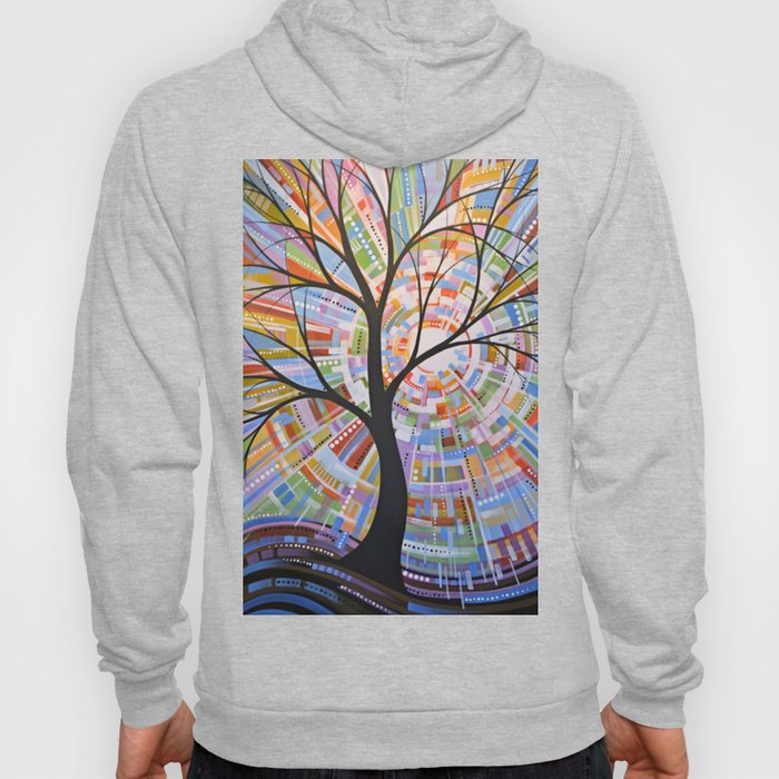 Abstract Art Landscape Original Painting ... Here Comes the Sun Hoody