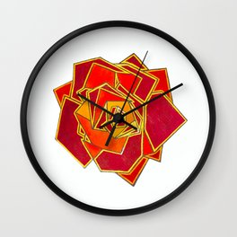 Geometric Rose Wall Clock