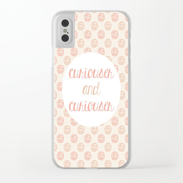 Curiouser and Curiouser Clear iPhone Case