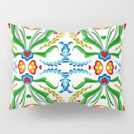 Scandinavian Folk Art ~ Tulip Mosaic Pillow Sham