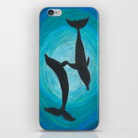 dolphins iPhone & iPod Skins featuring Dolphins by MandiMccl