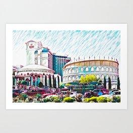 Las Vegas Caesars Palace Colosseum Art Print