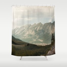 Rocky Mountains Photography Print Shower Curtain