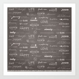 Life on a Chalkboard Art Print