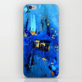 Blue, Black and White iPhone Skin