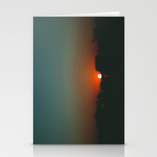 west at sunset Stationery Cards