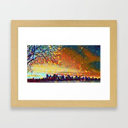 Sunrise Cityscape Framed Art Print