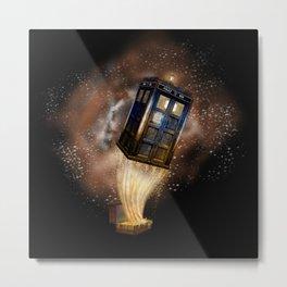 Fantastic Tardis Doctor Who Mashup with Fantastic Bag Metal Print