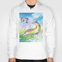 mlp Hoodies featuring Rainbow Dash - MLP by mmishee