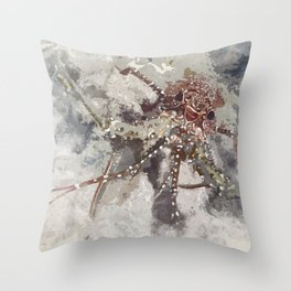 Lobster Watercolor Throw Pillow