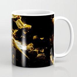 Black and Gold Tourmaline Coffee Mug