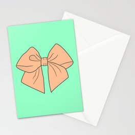 Peachy Keen Vector Bow Stationery Cards