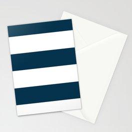 Navy Ocean Cabana Stripes Stationery Cards