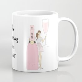 Rose Champagne - Brown Hair Coffee Mug