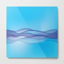 sunny blue waves  Metal Print