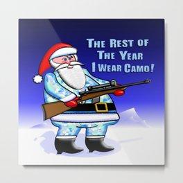 Santa Wears Camo Metal Print
