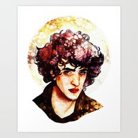 grantaire Art Prints featuring Grantaire watercolour by chazstity