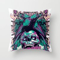 anarchy Throw Pillows featuring Anarchy ravens by Tshirt-Factory